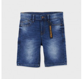 MAYORAL 6293-10 Bermudy soft denim dla chłopaka JUNIOR.